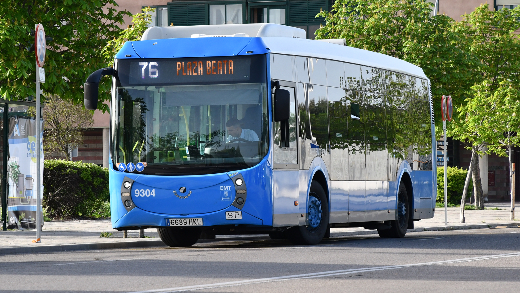 IPT Charge in use in Madrid e-buses